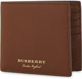 Burberry Logo textured leather wallet