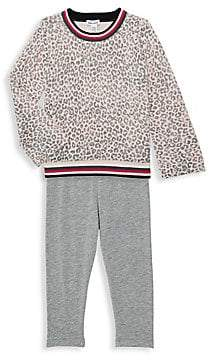 Splendid Little Girl's 2-Piece Leopard-Print Sweater & Leggings Set