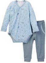 Angel Dear Dino Kimono Bodysuit & Pant Set (Baby Boys)