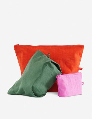 The Conran Shop BAGGU Venice Beach Go woven pouch set of three