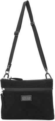 Master-piece Co Black Suede Messenger Bag