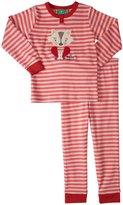 Little Green Radicals Applique Pyjamas (Toddler/Kid) - Pink Striped-3-4 Years