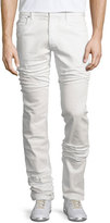 Maison Margiela Five-Pocket Straight-Leg Stretch Jeans, White
