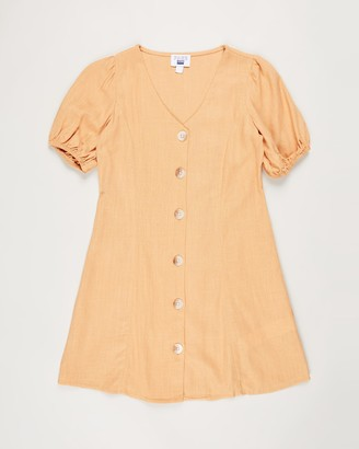 Cotton On Girl's Orange Mini Dresses - Luna Short Sleeve Dress - Teens - Size 14 YRS at The Iconic
