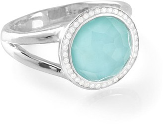 Ippolita small Lollipop diamond, turquoise and quartz ring