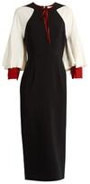 Roksanda Alten contrast-sleeve crepe pencil dress
