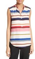 Kate Spade Women's Berber Stripe Silk Top
