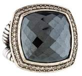 David Yurman Hematine & Diamond Albion Ring
