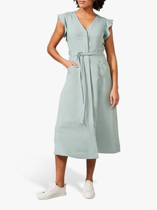 Phase Eight Tallie Linen Blend Dress, Eau De Nil