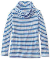 L.L. Bean Pima CottonTee, Cowlneck Tunic Stripe