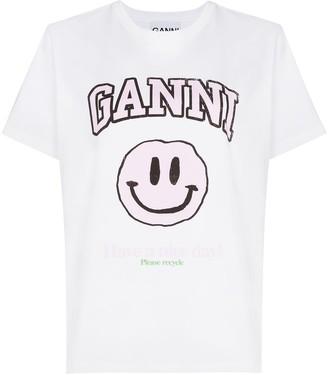 Ganni x Browns 50 logo-print cotton T-shirt