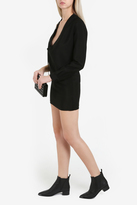 Anthony Vaccarello Lace Up One Sleeve Dress