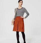 LOFT Zip Faux Suede Skirt