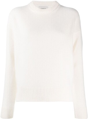 Laneus Ribbed-Knit Trim Jumper