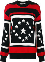 Givenchy contrast embroidered sweater - women - Wool - XS