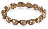 Delfina Delettrez Diamond 18k yellow gold skull ring