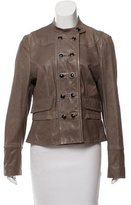 Karen Millen Leather Button-Up Jacket