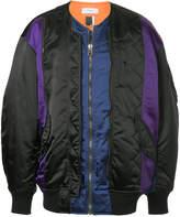 Facetasm panelled bomber jacket