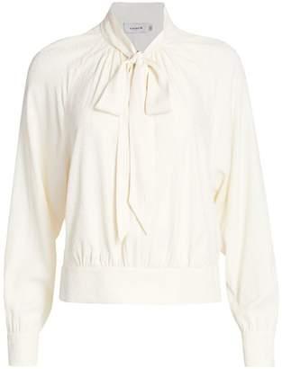 Coach 1941 Textured Dot Tie-Neck Blouse