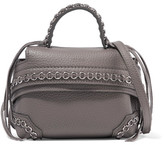 Tod's Wave Micro Embellished Leather Tote - Anthracite