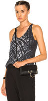 Raquel Allegra Box Pleat Tank Top in Blue,Ombre & Tie Dye.