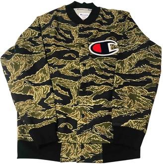 Green Cotton Supreme X Champion Jackets
