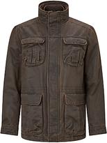 John Lewis Faux Wax 4-pocket Jacket, Brown