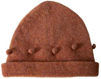 Wool Bobble Hat - Rust