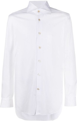 Kiton Spread-Collar Shirt