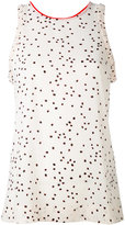 Paul Smith dot print top - women - Silk/Polyester/Spandex/Elastane - 38