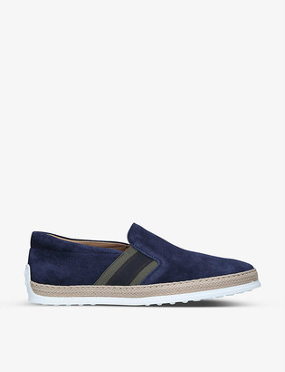 Tod's Pantofola suede loafers