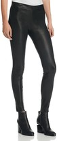 J Brand Mid Rise Leather Leggings in Black