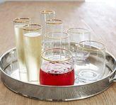 Pottery Barn Gold Rim Stemless Wine, Set of 6