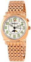 Breed Ray Silver Dial Rose Gold-tone Men's Watch