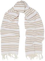 Rag & Bone Bennett fringed striped cotton scarf