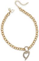 Thalia Sodi Signature Cutout Heart Pavé Pendant Necklace