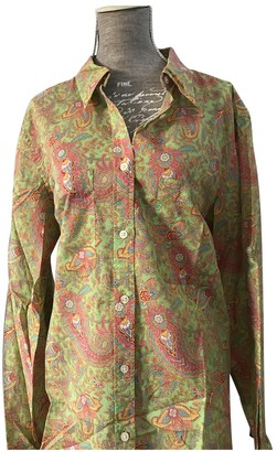 Lauren Ralph Lauren Green Cotton Top for Women