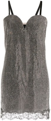 Christopher Kane Crystal Mesh Sweetheart Dress