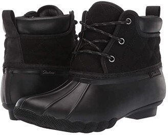 Skechers Pond - Lil Puddles (Black/Black) Women's Boots