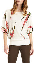 Phase Eight Lupin Floral Blouson Jumper, White