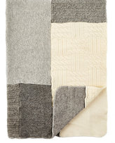 Agua Patchwork Cashmere Baby Blanket-GREY