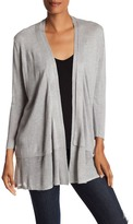 Joan Vass Long Sleeve Layered Cardigan