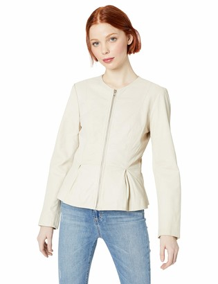 BB Dakota Junior's Clary Soft Lamb Peplum Jacket