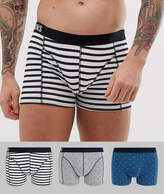 Only & Sons 3 pack printed trunks