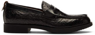 Burberry Black Emile TB Loafers