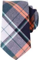 QBSM Tartan Check Styles Woven Microfiber Skinny Tie Neckties