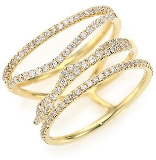 Meira T Diamond & 14K Yellow Gold Multi-Band Ring