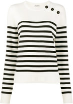 Saint Laurent White striped jumper