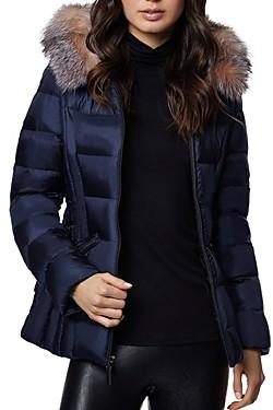 Dawn Levy Nikki Saga Fur Trim Short Down Coat