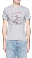 Remi Relief 'Surf Mania' skeleton embroidered cotton T-shirt